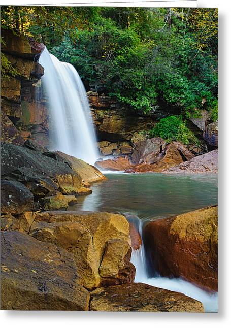 Greeting Card featuring the photograph Douglas Falls by Tyson and Kathy Smith