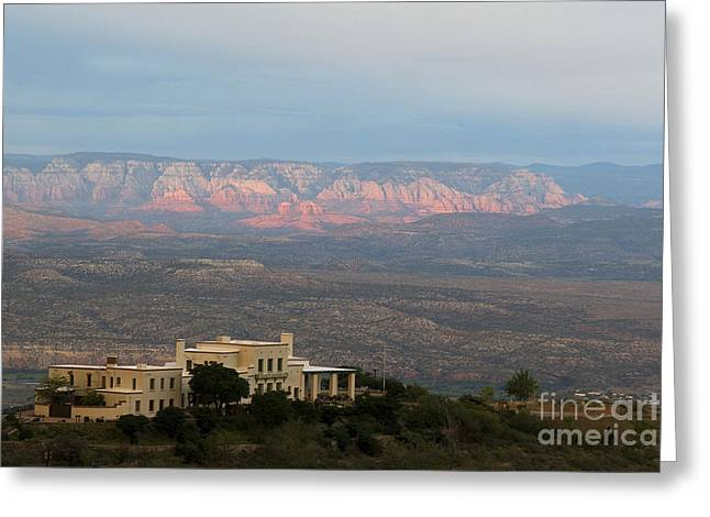 Douglas Mansion And Red Rocks Of Sedona Greeting Card