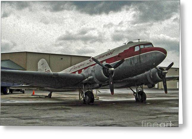 Douglas Skytrain C47 Dc3 Greeting Card by Gregory Dyer