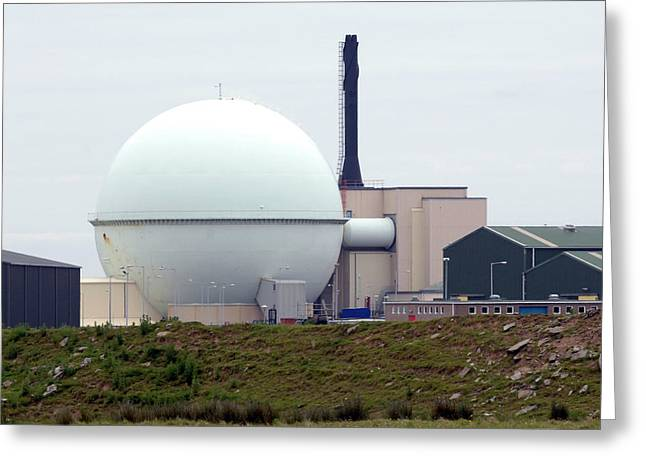Dounreay Nuclear Reactor Greeting Card by Public Health England