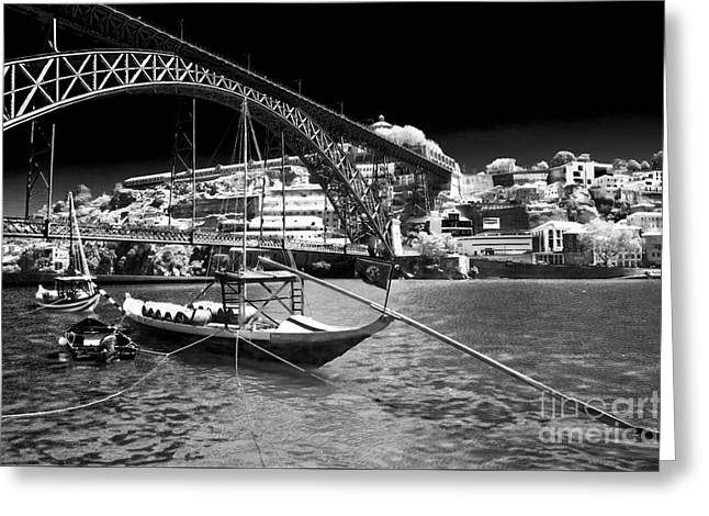 Douro River View Greeting Card by John Rizzuto