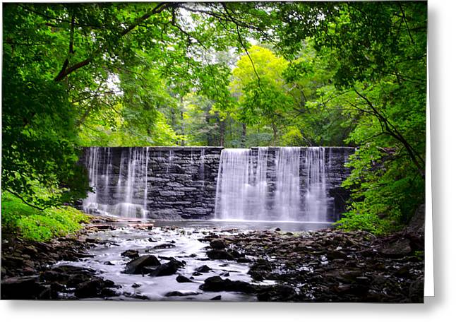 Dove Lake Waterfall At Gladwyne Greeting Card