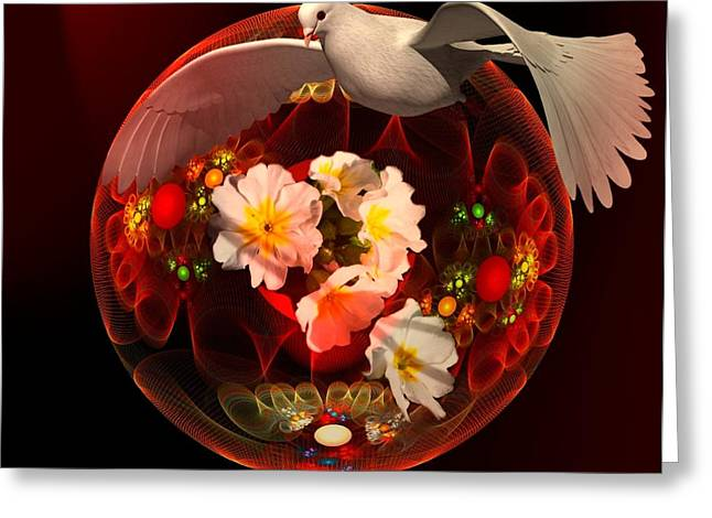 Dove Of Peace Greeting Card by Nancy Pauling