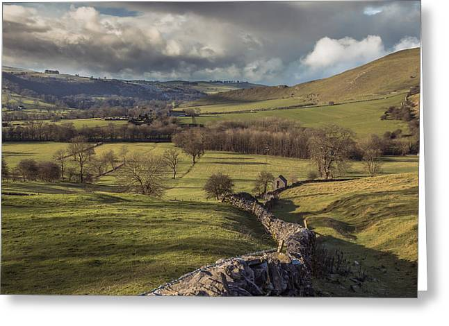 Dovedale Valley Greeting Card by Chris Fletcher