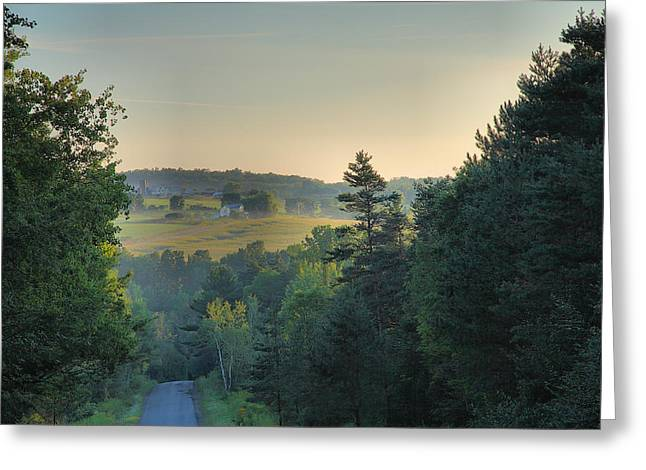 Down A Country Road Greeting Card by Steven Ainsworth