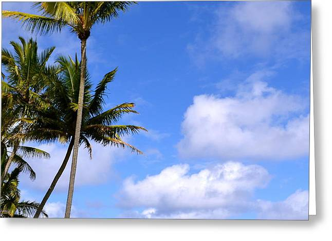 Down By The Ocean In Hawaii Greeting Card by Lehua Pekelo-Stearns