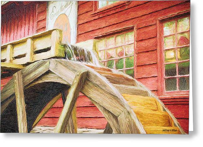 Down By The Old Mill Greeting Card by Jeffrey Kolker
