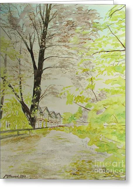 Down By The Old School Greeting Card by Martin Howard