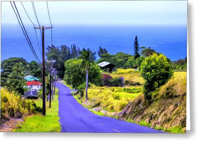 Down Into Honokaa Greeting Card