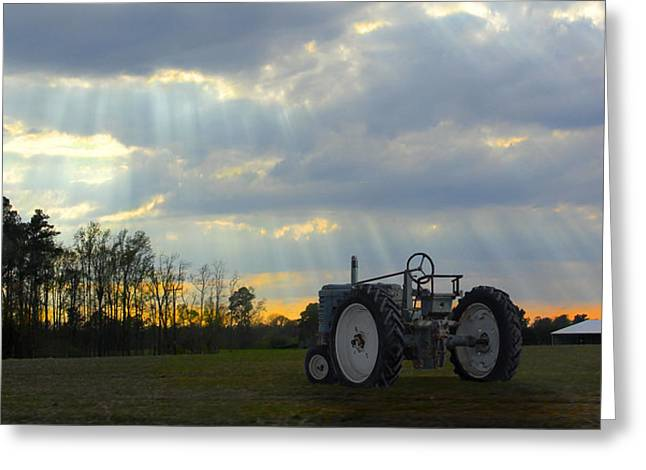 Down On The Farm Greeting Card by Mike McGlothlen