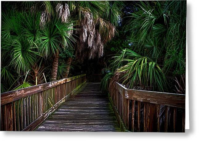 Down The Boardwalk Greeting Card by Pamela Blizzard