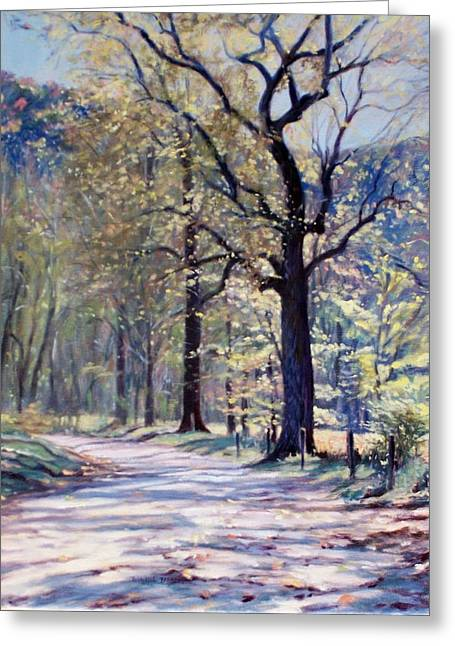 Down The Lane Greeting Card by Bonnie Mason