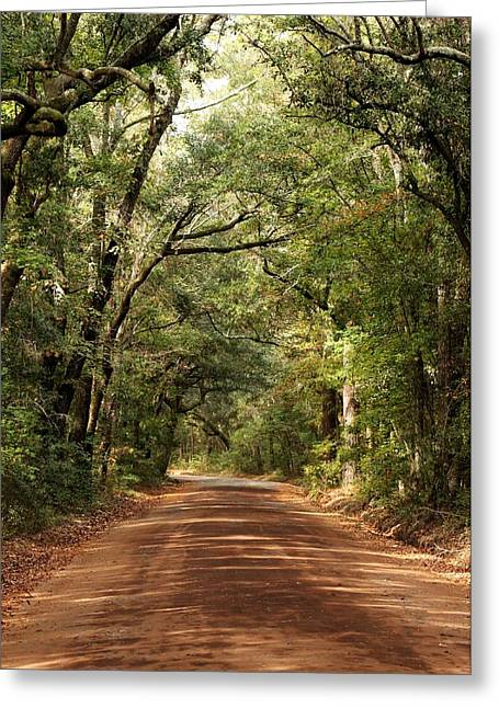 Down The Road A Piece  Greeting Card by Kim Thompson