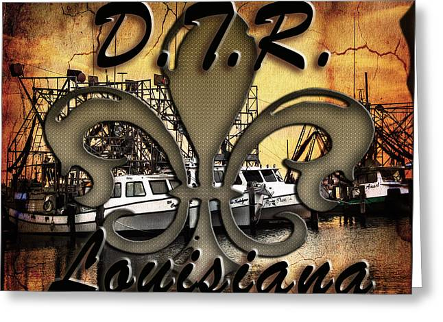 Down The Road Greeting Card by Victoria Evans