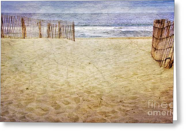 Greeting Card featuring the photograph Down The Shore by Debra Fedchin