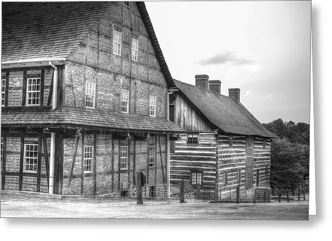 Down The Street In Old Salem Greeting Card by Diego Re