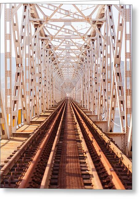 Down The Train Track Greeting Card by Keith Homan