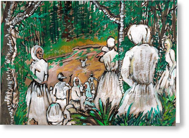 Down To The River To Pray Greeting Card by Seth Weaver