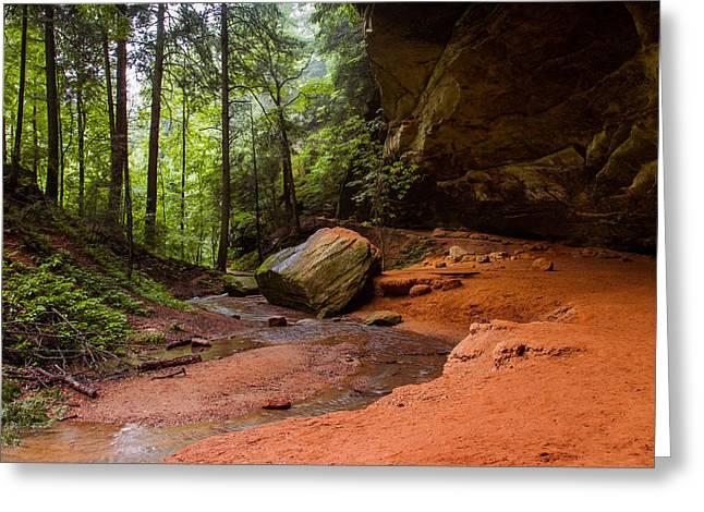 Downstream At Ash Cave Greeting Card