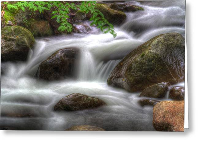 Downstream Flow Greeting Card by Barry Jones