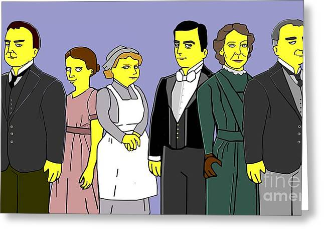 Greeting Card featuring the digital art Downton Abbey - Downstairs 6 by Donna Huntriss