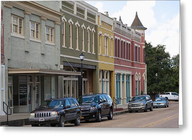 Greeting Card featuring the photograph Downtown Abbevile Louisiana by Gregory Daley  PPSA