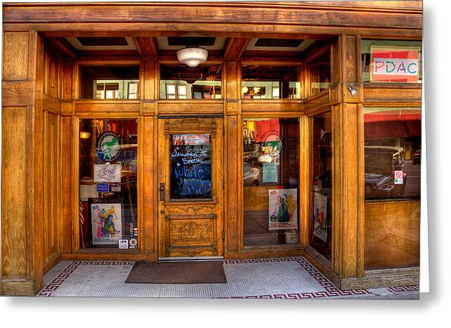 Downtown Athletic Club - Prescott Arizona Greeting Card by David Patterson