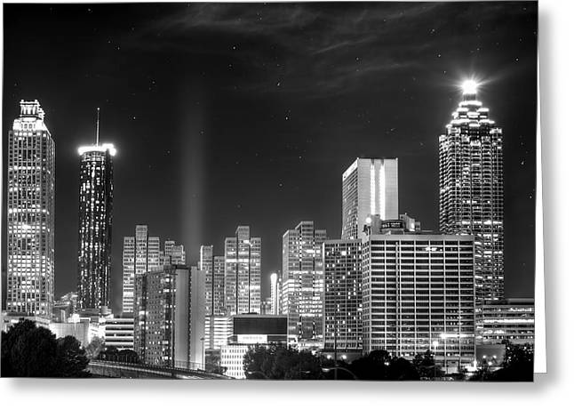 Downtown Atlanta Skyline Greeting Card by Mark Andrew Thomas