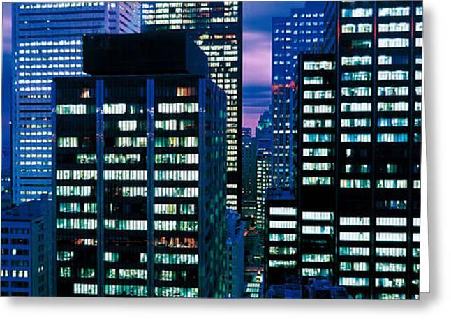 Downtown Buildings Toronto Ontario Greeting Card by Panoramic Images