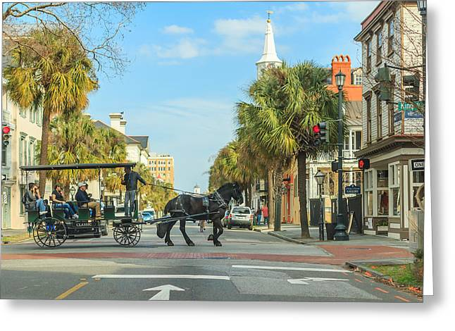 Downtown Charleston Stroll Greeting Card