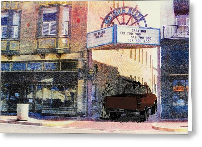 Downtown Greeting Card by David Honaker