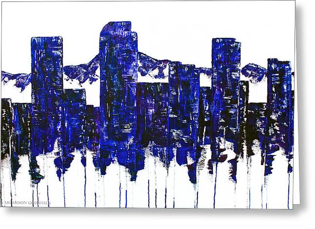 Downtown Denver Abstract Greeting Card