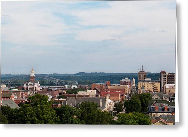 Downtown Dubuque Greeting Card