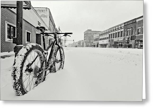 Downtown Emporia In The Snow Greeting Card