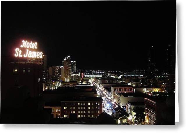 Downtown Energy Greeting Card by Ashley Van Artsdalen