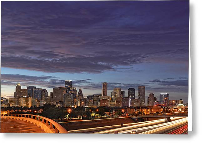 Downtown Houston After The Storm Greeting Card