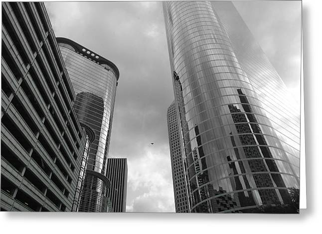 Downtown Houston Greeting Card by Dan Sproul