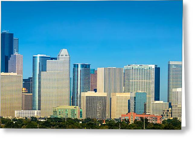 Downtown Houston Daytime Greeting Card by David Morefield