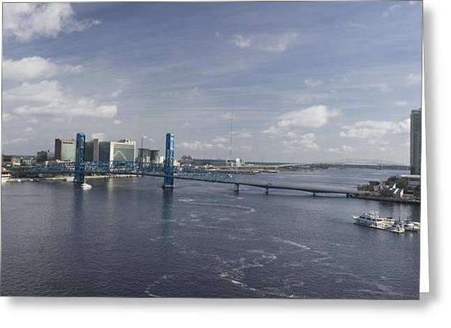 Downtown Jax St Johns Pano Greeting Card
