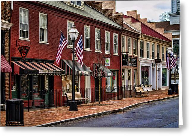 Downtown Jonesborough Tn Greeting Card by Heather Applegate