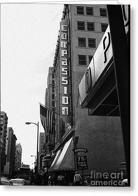 Greeting Card featuring the photograph Downtown La - Mid '70's by Doc Braham