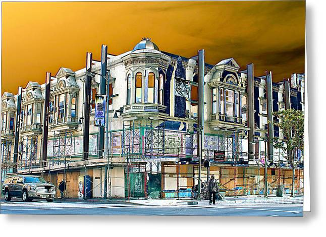 Downtown Los Angeles Corner Facade Greeting Card
