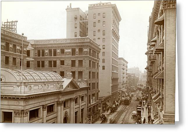 Downtown Los Angeles In 1900 Greeting Card