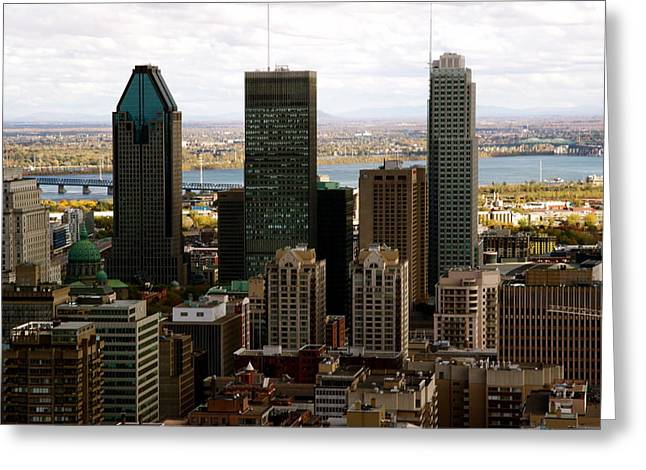 Downtown Montreal In Fall Greeting Card by Jocelyne Choquette