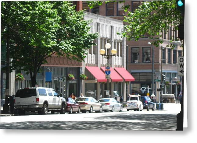 Downtown Neighborhood Greeting Card by David Trotter