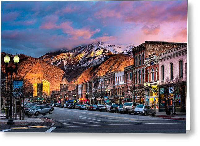 Downtown Ogden Utah Greeting Card
