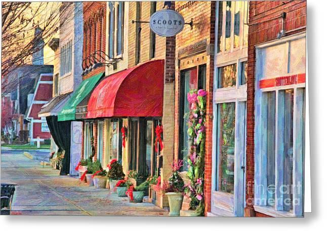 Downtown Perrysburg In December Greeting Card