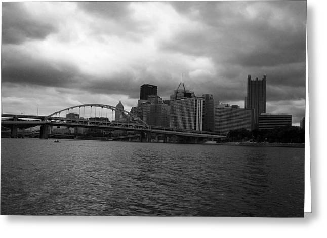 Downtown Pittsburgh Greeting Card by Joyce  Wasser
