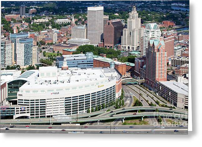 Downtown Providence Rhode Island Greeting Card by Bill Cobb