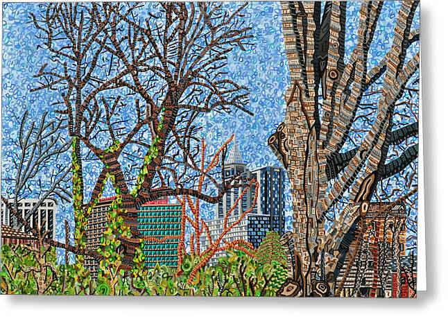 Downtown Raleigh - View From Chavis Park Greeting Card by Micah Mullen